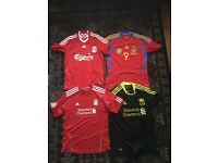 Liverpool FC & Spain football shirts