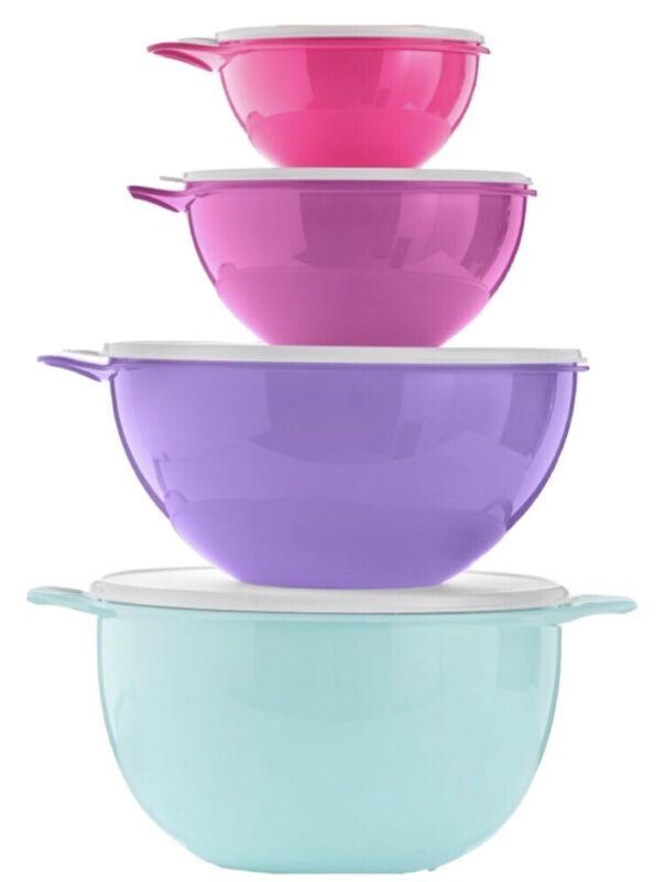 Tupperware Thatsa Bowl 4 Piece Mixing Prep Bowl Set