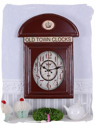 Telephone booths London clock antique clock Red Vintage style Old Town