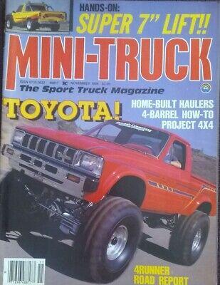Mini truck magazine November 1984 Toyota: Home Built Haulers, Super 7