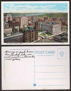 Old Nebraska Postcard - The Heart of Omaha