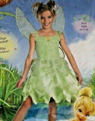 Girl's M TINKERBELL Dress Up Costume Disney Fairy Princess New 7-8 Halloween