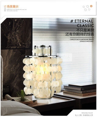 Modern Style Verpan Fun Seashell Table Lamp E27 Bulb Chrome Finish Desk Lamp  Fun Chrome Table Lamp