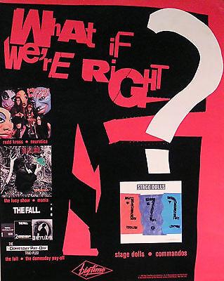 Stage Dolls 1987 Commandos Original Promo Poster