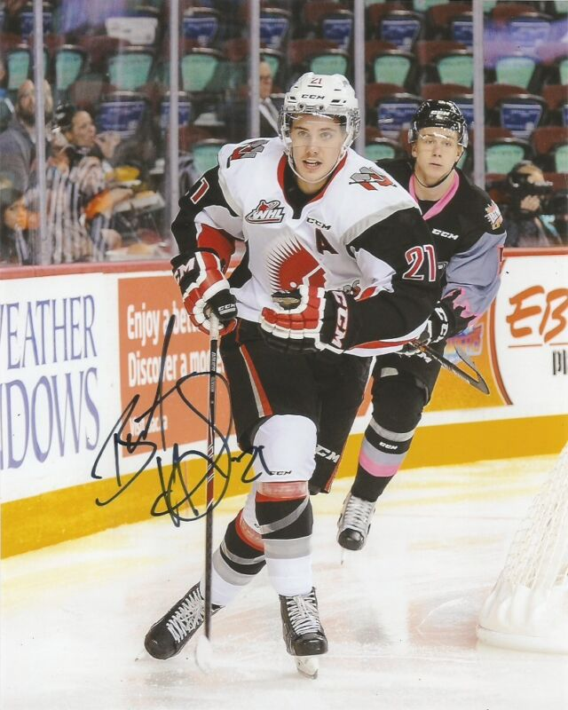 Moose Jaw Warriors Brett Howden Autographed Signed 8x10 Photo COA A