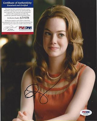 Authentic Emma Stone Signed Autograph Photo 8X10 Psa Dna Coa