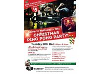 Holloway Christmas Ping Pong Party