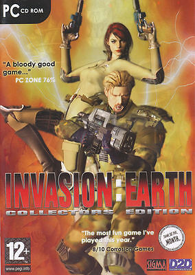 INVASION EARTH Collectors Edition Vintage Rare PC (Invasion Pc Game)