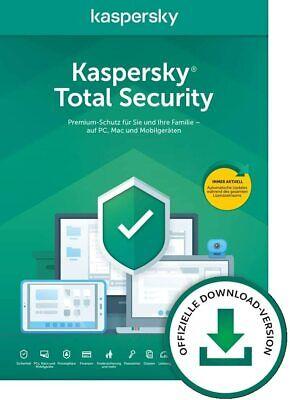 Kaspersky Total Security 2020 1 Gerät, 3, 5, 10 / Geräte (1 und 2 Jahre )