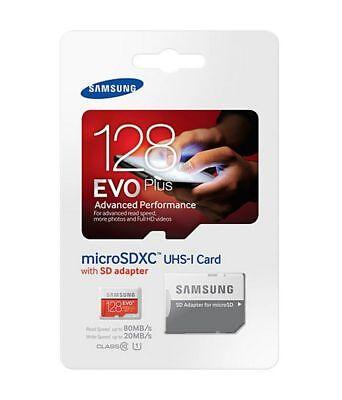 New SAMSUNG EVO Plus 128GB Micro SDXC Class10 SD Memory Card with SD Adapter