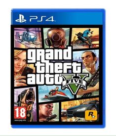 GTA V ps4 with map and manual