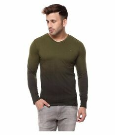 BRAND NEW, Green Shaded cotton T-shirt, full sleeves, L-size