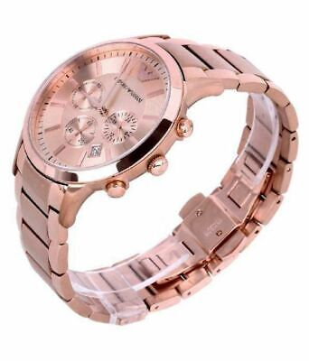 *NEW* MENS EMPORIO ARMANI AR2452 ROSE GOLD  CHRONOGRAPH WATCH   Free UK (Armani Mens Uk)