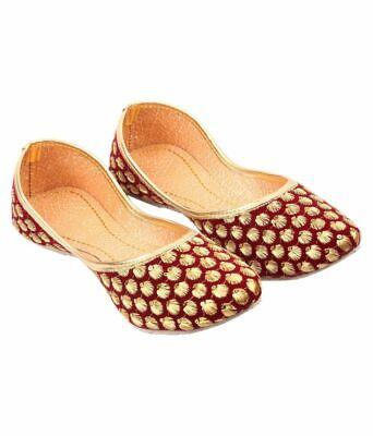 Indian Handmade Shoes Punjabi Jutti For Ladies Bridal Shoes Khussa Shoes Mojari  - Flip Flops For Weddings