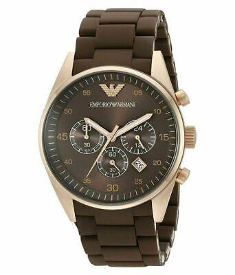 Emporio Armani Chronograph AR5890 Sportivo Brown Wrist Watch for (Emporio Armani For Men)