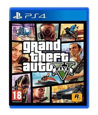 GTA 5 PS4 NUOVO GRAND THEFT AUTO VIDEOGIOCO EU PLAY STATION 4 ITALIANO GTA V