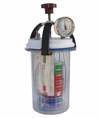 Anaerobic Culture Jar 3.5 Ltr Microbiology Biochem Lab Equipment Vacuum Pr Gauge
