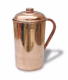 Copper jug Ayurveda Healing with drinking cup = SRP £49.99