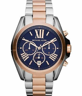 Michael Kors Bradshaw Two Tone Rose Gold Chronograph Steel MK5606 Watch