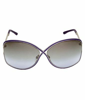 NIB  AUTH TOM FORD RICKIE FT 179 81Z PURPLE ENAMEL  /SILVER SUNGLASSES  BOX CASE