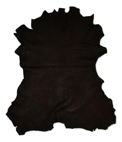 Black Grain Calfskin Leather Hide Calf Skin Cowhide 3 oz Full Hide