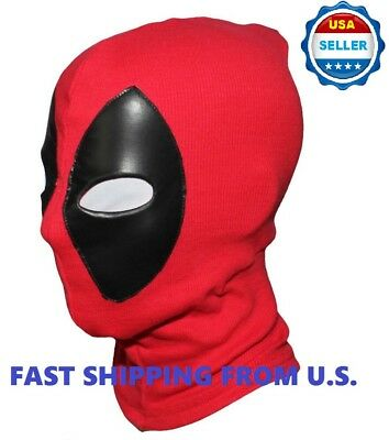 ❶2018 Deadpool Mask Leather Balaclava X-Men Halloween Costume Hood - Masks For Men Halloween