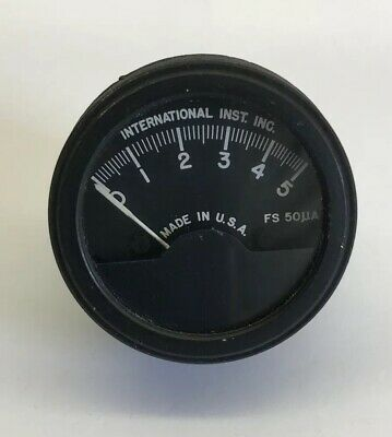 1 Vintage Military International Inst. Inc Radio Panel Meter Fs 50 Ua Usa