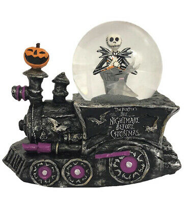 Nightmare Before Christmas Jack Skellington Zero LightUp Music Snow Globe Train