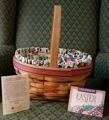 1995 EASTER BASKET WITH LINER,  PROTECTOR & PROD. CARDS](Easter Basket With Liner)