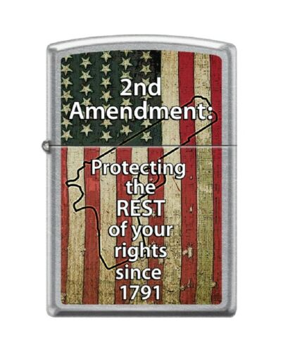 Zippo Lighter - 2nd Amendment: Protect Your Rights Street Chrome - 853679