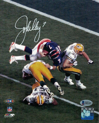 John Elway Autographed/Signed Denver Broncos 8x10 Photo Helicopter BAS 22890 John Elway Signed Photograph