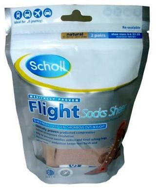 Scholl Flight Graduated Compression Socks size 4-6 For Air/Aeroplane Travel