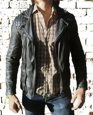 *NEW WITH TAGS* ALL SAINTS CARGO LEATHER BIKER JACKET Conroy XS/S/M RRP $525