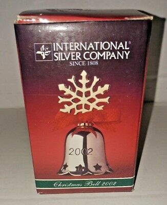 Christmas Bell Silver Plated Engraved 2002 International Silver Company