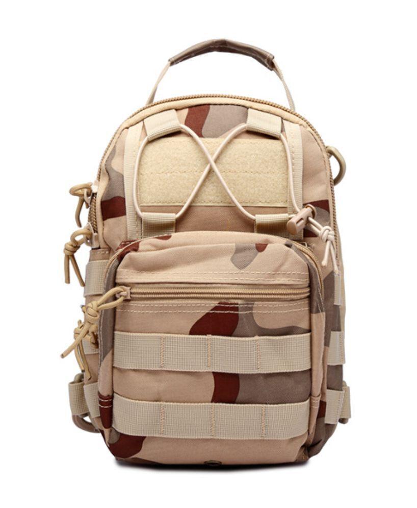 Outdoor Shoulder Military Tactical Backpack Travel Camping  Hiking Trekking Bag Tri-Color Desert Camo