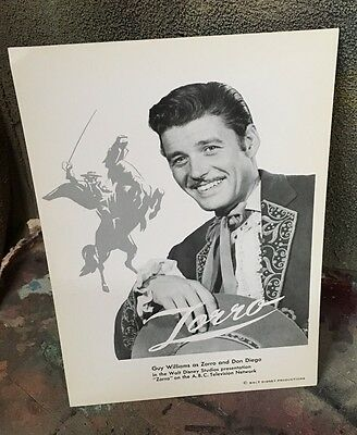 Zorro Lost In Space Guy Williams Promo Postcard 1957