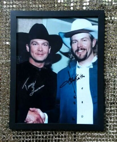 Tracy Lawrence & Toby Keith HAND-SIGNED backstage Opry Photo 2004
