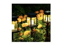 Solar Hanging Lantern Outdoor, 8 Pack Solar Pathway Lights Candle brand new