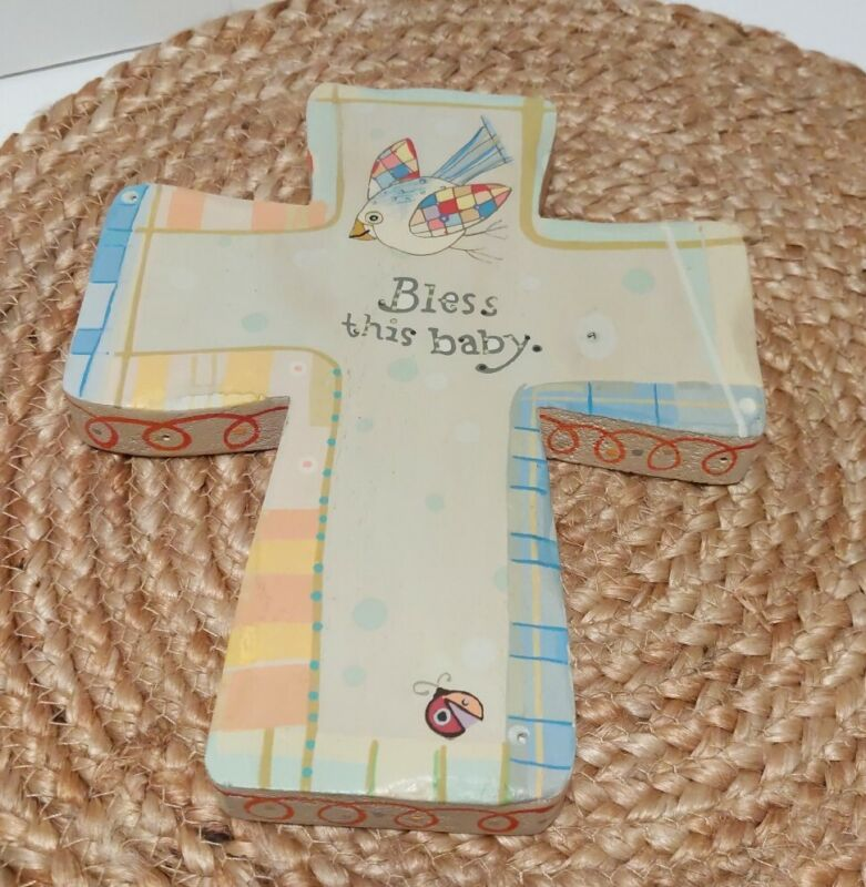 Wooded Cross Bless this baby bird nursery