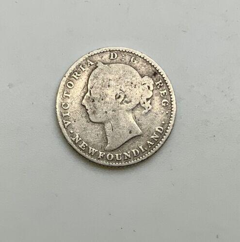 1888 Newfoundland  10 Cent Silver Better Date Decent Lower Grade Scarce Coin