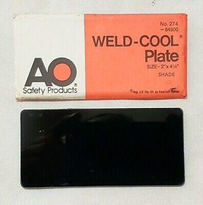 American Optical Weld Cool No. 274 Shade 12 Welding Plate Lens 2 X 4 14