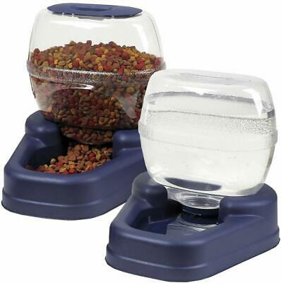 AUTOMATIC PET FOOD DISPENSER DOG CAT FEEDER WATERER AUTO DISH BOWL COMBO PACK Automatic Pet Dog Cat
