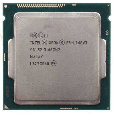 Usado, Intel Xeon QuadCore E3-1240 v3 SR152 // 4x 3,4 GHz // 8 MB // 5 GTs segunda mano  Embacar hacia Spain