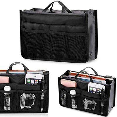 Organizer per borse Bag in organizza la borsa tasche interne ed esterne nero