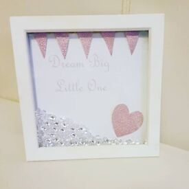 Personalised hand made frames. Glitter and diamonds frames available