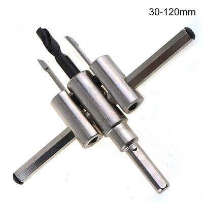 30mm-120mm Alloy Adjustable Circle Hole Cutter Set With Wood Metal Saw Drill Bit