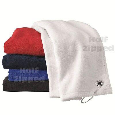 Carmel Towel Co Golf Velour Hemmed Terry Towel with Corner Grommet & Hook 1518GH Corner Grommet Sport Towel