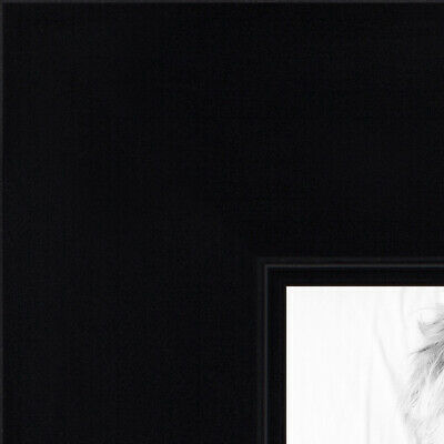 custom picture poster frame satin black flat