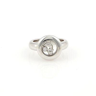 Chopard Diamond Ring Design (Chopard 18K WG Star & Moon Happy Diamonds Designer)