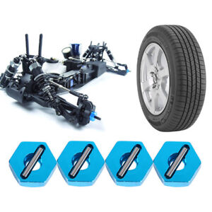 4Pcs Professional 12mm Wheel Hex Hub Adapter Thick with Pins For Rc Car UK